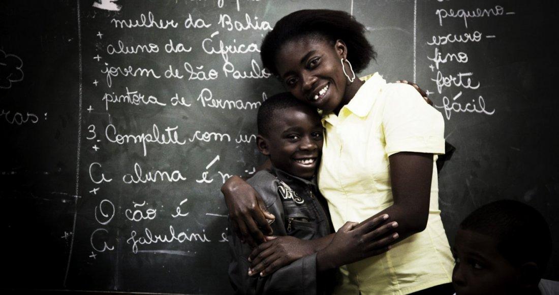 Jean com a mãe, uma sobrevivente como ele.